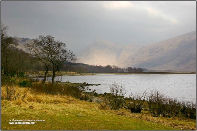 View of Glen etive in the Scottish Highlands