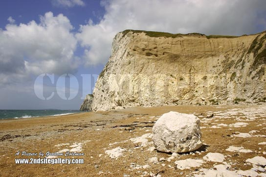 White cliffs on the Dorset Coast