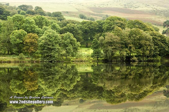 reflections, elan valley mid wales