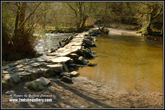 View of Tarr steps, landmarks of Somerset by a west country landscape photographer