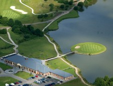Aerial view of the 18th hole