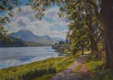 ''Bright morning, Buttermere'' pastel 2017