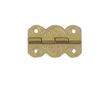 "Vintage Solid Drawn Brass Butt hinges 3/"" x 1 5//8/"" with brass pin"