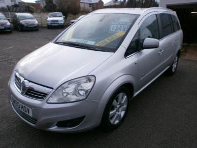 2010 60 Vauxhall Zafira 1.9CDTi turbo diesel 150ps Design automatic