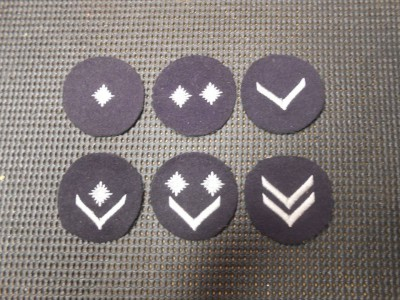 Six Unworn Hitler Youth Rank Patches