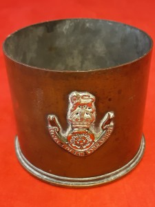 1915 Dated 18 Pdr LOYAL NORTH LANCASHIRE Decorated Brass Shell-case