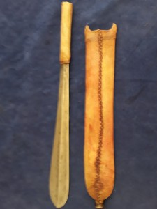 African Maasai Seme Sword In Leather Sheath