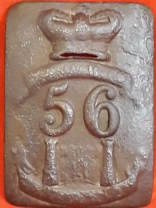 Possibly Pre-Napoleonic, Other Ranks, Oblong Cross Belt Plate of the 56th Foot - West Essex Regiment