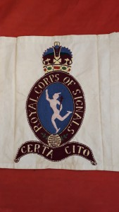 Kings Crown Royal Corps Of Signals Music Stand Banner
