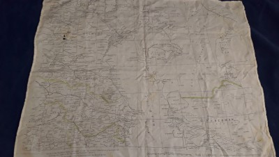 Unusual Modern RAF? Silk Map/ Escape Aid For Northern Iran And The Caspian Sea Areas