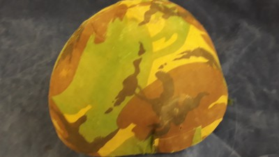 1987 Dated British Army GS Mk 6 Combat Helmet With Camo Cover