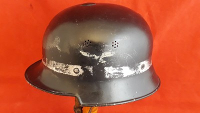 Rare WW2 Double Decal M-1934 Helmet Used By Luftwaffe Crash/ Firemen