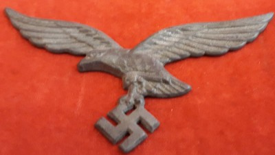 Luftwaffe Eagle/ Swastika Cap Device (Fixing Prongs Broken Off)