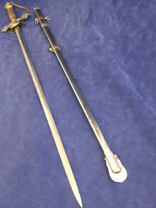 Ceremonial American Knights Of Pythias Sword In Steel Scabbard
