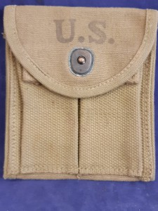 1943 Dated US M1 Carbine WD Stamped Canvas Magazine Pouch