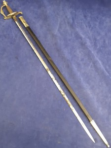 Continental Ceremonial Court Sword In Black Leather Scabbard