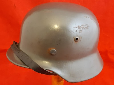 WW2 M-40 Kriegsmarine Helmet With Replacement Liner And Chinstrap