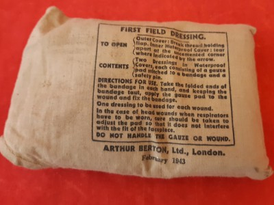 1943 Dated British Shell dressing