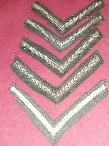 WW2 British Army Uniform Removed Lance-Corporal Rank Chevrons