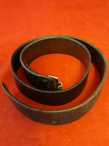 38 Dated German Army Leather Belt, Tongue Missing