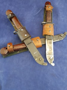 Eastern Block Country AK-47 Bayonet In Scabbard And Complete With Frog