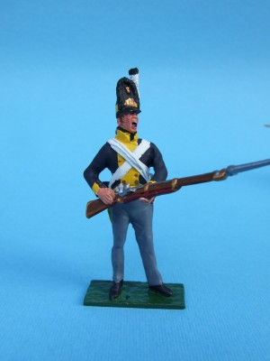 PRUSSIAN GUARD  STANDING AT THE READY