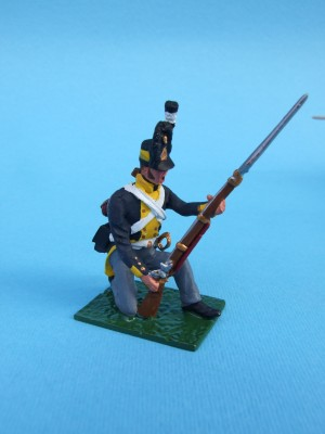PRUSSIAN GUARDS KNEELING REPEL CAVALRY