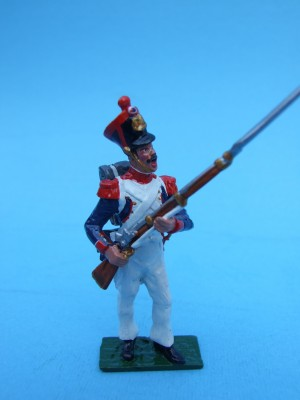 LINE GRENADIER STANDING AT THE READY