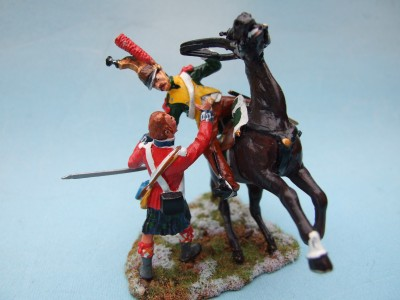 BRITISH INFANTRY BLACK WATCH Vs FENCH LINE DRAGOON FROM THE 19th REGIMENT