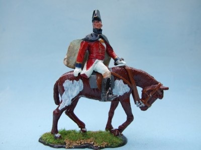 BRITISH INFANTRY GRENADIER GUARDS OFFICER MOUNTED ON AN OLD NAG