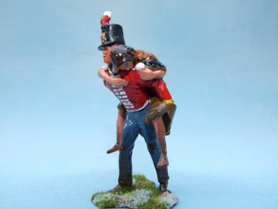 BRITISH INFANTRYMAN GIVING PIGGYBACK RIDE TO HIS WIFE??