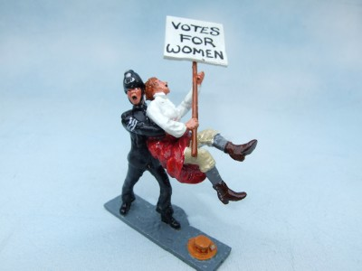 POLICEMAN WITH  SUFFRAGET