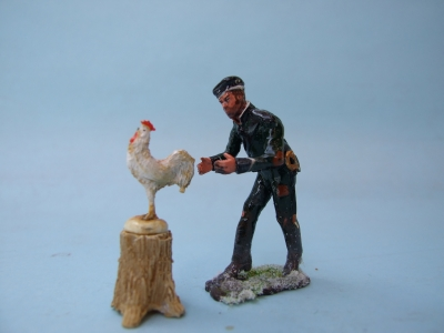 95th RIFLEMAN LOOKING AT SOMTHING FOR THE POT
