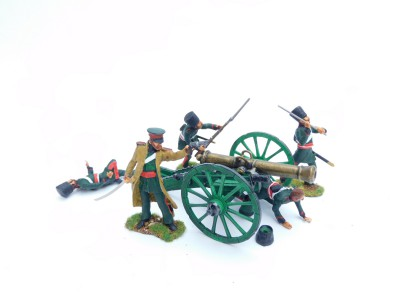 RUSSIAN DON COSSACK ARTILLERY GUN AND CREW