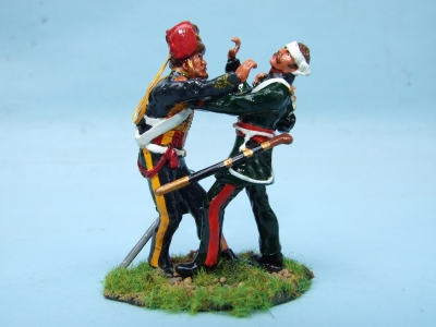 FIGHTING PAIR 11th HUSSAR Vs RUSSIAN GUNNER