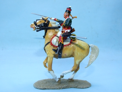 FRENCH HUSSAR CHARGING