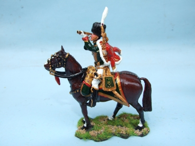 CHASSEUR AU CHEVAL OFFICER WITH SPY GLASS