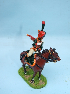 CHASSEUR AU CHEVAL DISPATCH RIDER MOUNTING UP IMPERIAL GUARD