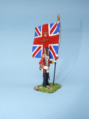 KING'S COLOUR 57th REGIMENT WEST MIDDLESEX