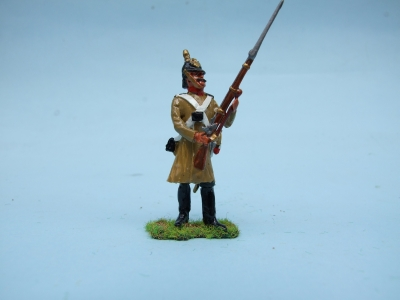 STANDING AT THE READY RUSSIAN GRENADIER