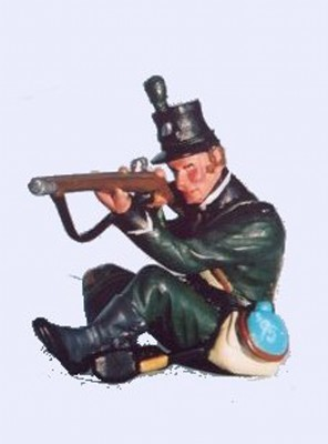 95th RIFLES FIRING SITTING CROSS LEG