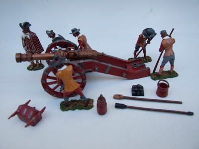 ROYALIST ARTILLERY SEIGE GUN AND CREW