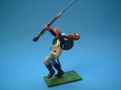 PRUSSIAN MUSKETEER WOUNDED