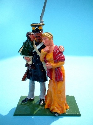 INFANTRYMAN WITH WIFE AND CHILD