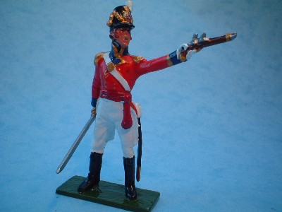COLDSTREAM GUARDS OFFICER firing pistol
