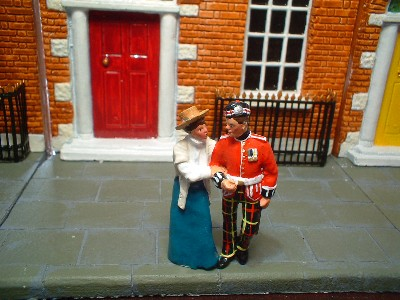 NS005 COURTING COUPLE A YOUNG SOLDIER FROM THE ROYAL SCOTS WITH HIS FIANCE