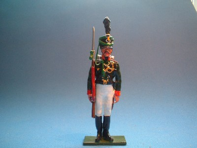PRUSSIAN RIFLEMAN AT ATTENTION