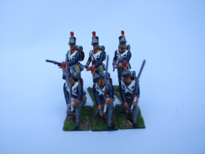 STANDING AT READY AND KNEELING AT READY BELGIAN MILITIA 1815