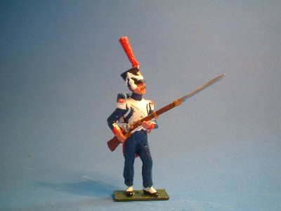 FUSILIER GRENADIER STANDING AT THE READY