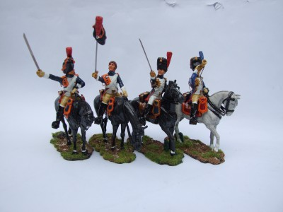 GRENADIERS A CHEVAL AVANT LA CHARGE